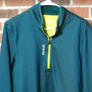Reebok Play Warm Poly/Spandex 1/4 Zip Pullover M